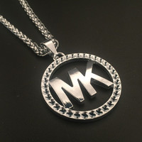 Shiny New Arrival Stylish Jewelry Gift Hot Sale Fashion Alphabet Hip-hop Club Necklace [6542765251]