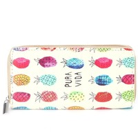 Pineapple Print Pura Vida Clutch Wallet
