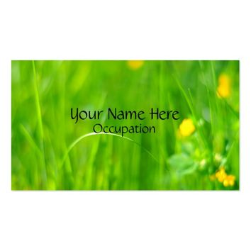 Flower Field Blurred Photograph Professional Business Card