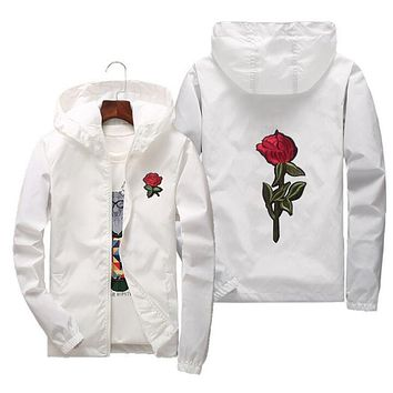 Rose Jacket Windbreaker Men College Jacket