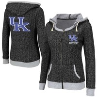 Kentucky Wildcats Ladies Slope Full Zip Hoodie - Charcoal