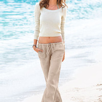 The Beach Pant in Linen - Victoria's Secret