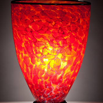 Inferno Lamp by Curt Brock: Art Glass Table Lamp | Artful Home