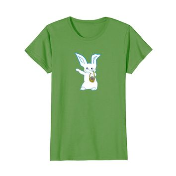 Dabbing Easter Bunny With Colored Easter Eggs Pastels Shirt