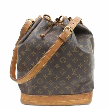 Tagre™ Authentic Louis Vuitton Shoulder Bag Noe M42224 Browns Monogram 16917