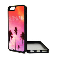 Apple iPhone 6 5C 5S 4S Generation Fitted Rubber Silicone TPU Phone Case Cover California Palm Trees Hipster Print Cali Love