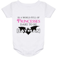 In A World Full Of Princesses Dare To Be Batman Baby Onesuit 24 Month