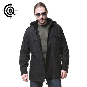 CQB Outdoor Tactical Coat Men Windproof Jacket Long Trench Jackets Military Hiking Jacket Hunting Windproof Sport Coat SY0114