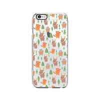 Cute Reindeer, Fox and Bear Pattern Merry Christmas Transparent Silicone Plastic Phone Case for iphone 7PLUS _ LOKIshop (iphone 7 plus)