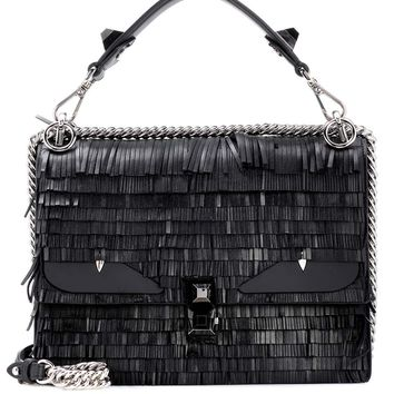 Kan I fringed leather shoulder bag