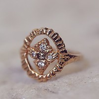 Free People Radiance Shield Diamond Ring