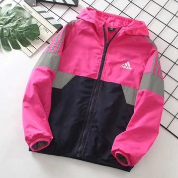 Adidas Girls Boys Children Baby Toddler Kids Child Fashion Casual Cardigan Jacket Coat