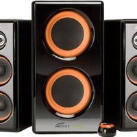 Arion Legacy AR506-BK 2.1 Speaker System with Dual Subwoofers for MP3, PC, Game Console, & HDTV - Black, 100 Watts