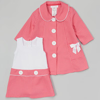 Fuchsia Swing Coat & Dress - Infant
