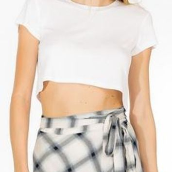 White Crop Tee Shirt