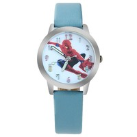 ot01 2016 New Waterproof Cool Spiderman Children Watch Cartoon Quartz Watches for Student Boy Kids Child Gift Wristwatch Relogio