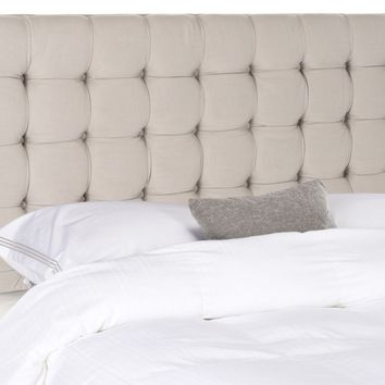 Lamar Taupe Tufted Headboard King