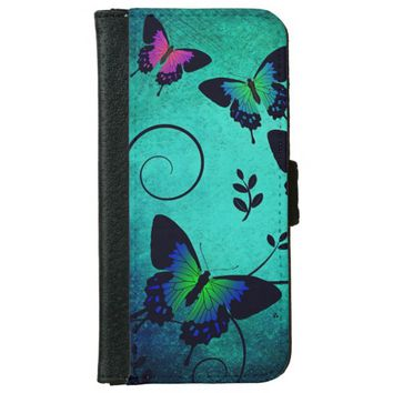 Butterfly Design Wallet Phone Case For iPhone 6/6s