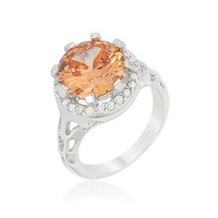 Champagne Organic Cocktail Ring, size : 05