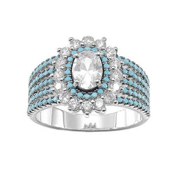 KIVN Fashion Jewelry CZ Cubic Zirconia Bridal Wedding Engagement Rings for Women