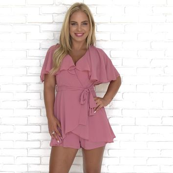 Ruffle Frenzy Rose Romper