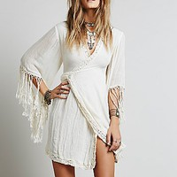 Jen s Pirate Booty for Free People Womens Gauze Wrap Dress