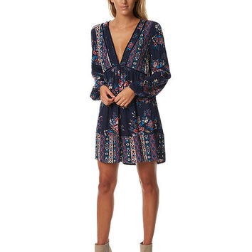 TIGERLILY WOMENS MATANO DRESS - PATCHWORK