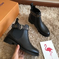 Kuyou Gx39930 Louis Vuitton Lv Western Chelsea Boot With Elasticated Sides
