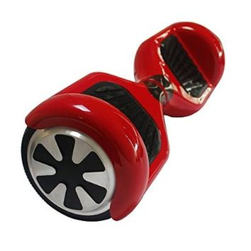 Electric Skateboard Two-wheel Smart Self Balancing Scooters Drifting Board with LED Light in Red