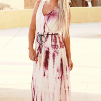 CONNECT WITH ME TIE DYE MAXI DRESS