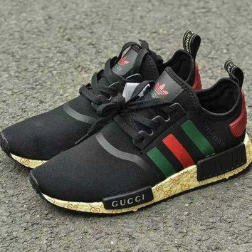 CREYGE2 Beauty Ticks Gucci Adidas Nmd Fashion Women/men Casual Running Sport Shoes Limited Edition
