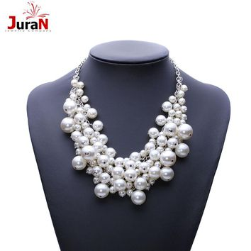 JURAN Fashion Luxury Bubble Simulated Pearl Pendant Choker Necklace 2017 New Arrival Statement Necklace For Women Jewelry A2406