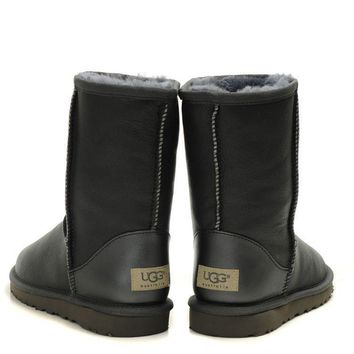 UGG Woman Men Fashion Leather Half Boots Snow Boots Shoes-2