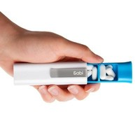 Sabi Holster clip-on pill box with three compartments
