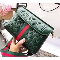 Gucci Trending Women Leather Stripe Satchel Crossbody Shoulder Bag