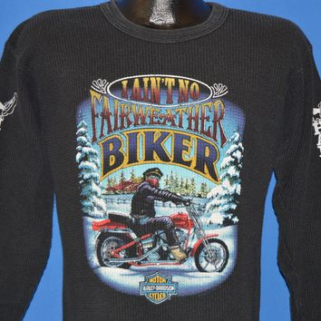 80s Harley Davidson No Fairweather Biker t-shirt Medium