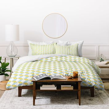 Hello Twiggs Green Lime Tile Duvet Cover
