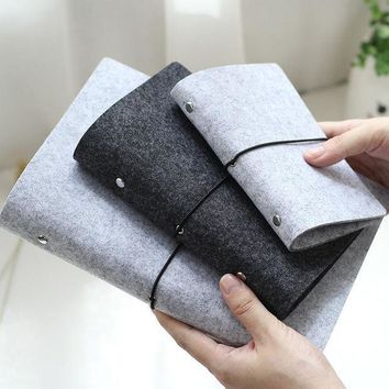 ICIK7Q Felt shell  fabric notebook