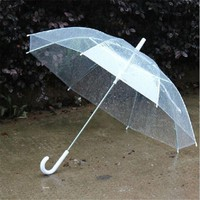 1 PC Portable New Fashion Transparent Clear Rain Umbrella Parasol PVC Dome for Wedding Party Favor P5