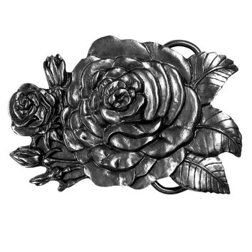 Sports Accessories - Rose Antiqued Belt Buckle