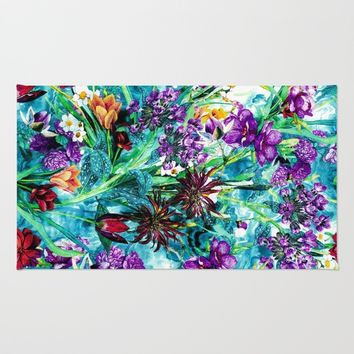 Floral Jungle Rug by RIZA PEKER
