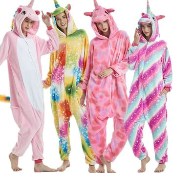 Pajama Animal Onesuits Cosplay Womens pajamas Men Winter Warm Stitch Pajama Interesting Cartoon Onesuit adults Nightwear
