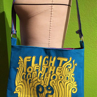 Flight of the Conchords Purse Upcycled 2009 Concert T-shirt Bag