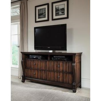 American Woodcrafters High Society Entertainment Furniture