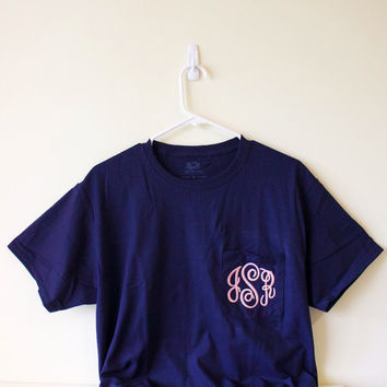 Monogrammed Pocket T-Shirt