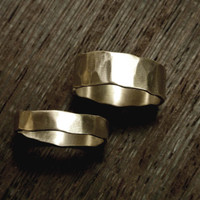 Heavily Textured Couple Rings in Sterling Silver by anilani