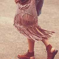 Free People Womens Cascading Fringe Crossbody