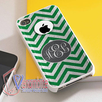 Custom Monogram Phone Case Otterbox Green For iPhone 4/4s Cases, iPhone 5 Cases, iPhone 5S/5C Cases, iPhone 6 cases & Samsung Galaxy S2/S3/S4/S5 Cases