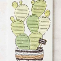 Wit & Whistle Cactus Weekly Notepad