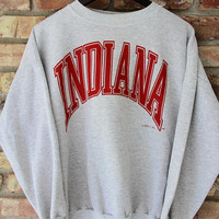 80's Vintage INDIANA UNIVERSITY Sweatshirt Hoosiers Big 10 Bloomington Indiana Size XL